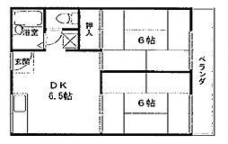 中野ハイツ[A205号室号室]の間取り