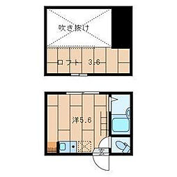東京都渋谷区猿楽町の賃貸アパートの間取り