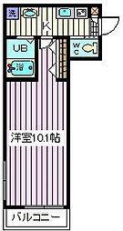 埼玉県さいたま市桜区西堀8-の賃貸アパートの間取り