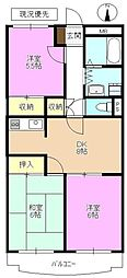 長野県千曲市屋代の賃貸アパートの間取り