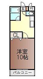岡山県岡山市北区今5丁目の賃貸マンションの間取り