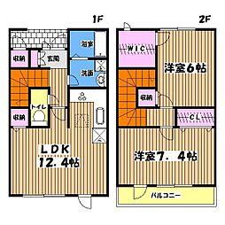[テラスハウス] 東京都八王子市西片倉2丁目 の賃貸【/】の間取り
