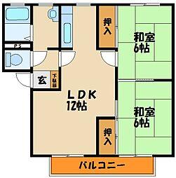 メルヴィルA棟[1階]の間取り