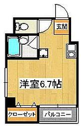 千葉県船橋市本町2の賃貸マンションの間取り