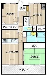 アビタシオンオキ[203号室]の間取り