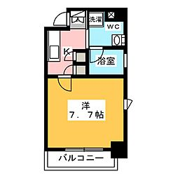 プラウドフラット浅草橋III 3階1Kの間取り