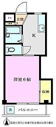 白樺コーポ[102号室]の間取り
