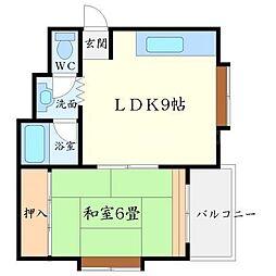 パーク21[3階]の間取り