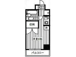 ソレイユ相模原[2階]の間取り