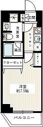 REALIZE蒲田II(レアライズ蒲田ツー) 1階1Kの間取り