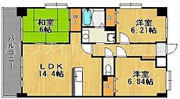 Cantina小笹[3階]の間取り