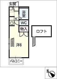 山田壱番館[2階]の間取り