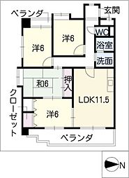 ホーム岩崎台[1階]の間取り