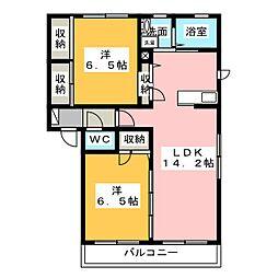 シャンティアA[1階]の間取り