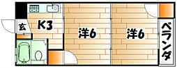 ハイムシャルマン[5階]の間取り