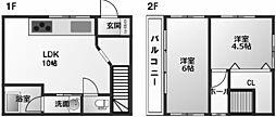 [一戸建] 兵庫県西宮市久保町 の賃貸【兵庫県 / 西宮市】の間取り