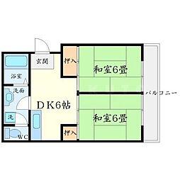 伏田ハイツ[3階]の間取り