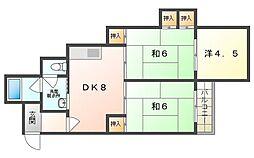 シティライフ柳 4階3DKの間取り