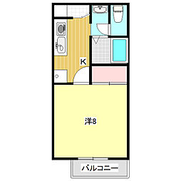 エトワール高山[2階]の間取り