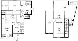 植松2丁目戸建(5DK)[2階]の間取り