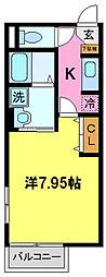 千葉県千葉市中央区末広4丁目の賃貸アパートの間取り