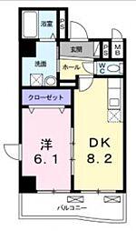 ディオーネ・ジエータ・長堂[5階]の間取り