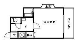 ラフィーネ大宮II[4階]の間取り