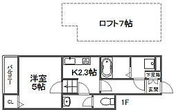 カンステレイション4[1階]の間取り