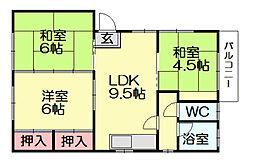 福々アパート[1階]の間取り