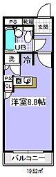 千葉県市川市行徳駅前3丁目の賃貸マンションの間取り