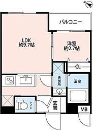東京メトロ有楽町線 平和台駅 徒歩3分の賃貸マンション 1階1LDKの間取り
