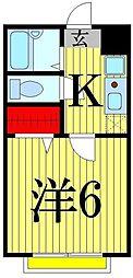 東京都足立区西新井5丁目の賃貸アパートの間取り