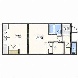 北海道札幌市白石区本郷通7丁目南の賃貸マンションの間取り