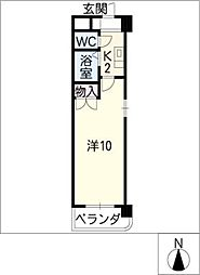 セントラルハイツ旭[3階]の間取り