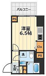 JR中央線 豊田駅 徒歩2分の賃貸マンション 8階1Kの間取り