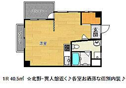 神戸マンション[4階]の間取り