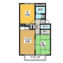 Prejeur B棟[1階]の間取り
