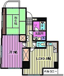 新田第9ビル[602号室]の間取り