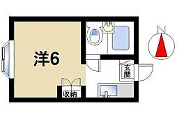 ハイタウンB棟[1階]の間取り