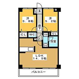 東仙台ガーデンハイツIII[1階]の間取り