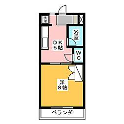 グリーンハイツII[3階]の間取り