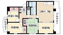 愛知県名古屋市天白区梅が丘4丁目の賃貸マンションの間取り