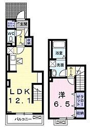石川3丁目アパート[1階]の間取り