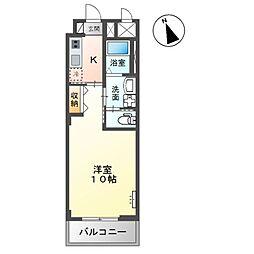(仮称)市原市惣社新築マンション 3階1Kの間取り