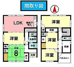 土地面積:151.64?/建物面積:126.68?/5LDK