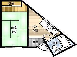 第一ロックマンション[4階]の間取り