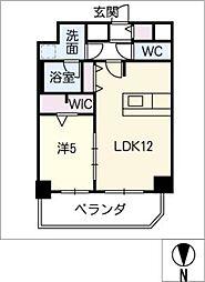 プレサンスTHE MOTOYAMA[11階]の間取り