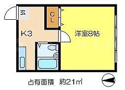 中田マンション[1階]の間取り