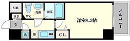 レジュールアッシュ難波MINAMI III[4階]の間取り