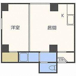 メゾン栄[4階]の間取り